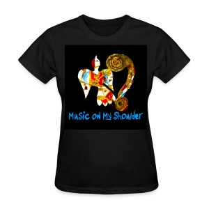 Women's MUSIC ON MY SHOULDER T-Shirley for Charity - Women's T-Shirt