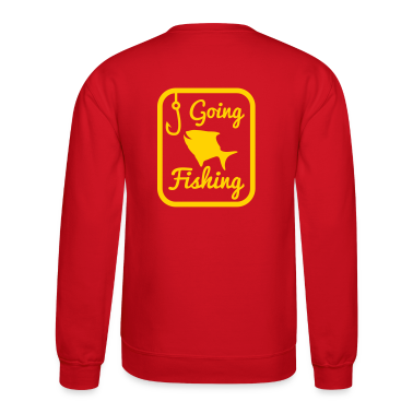 GOING FISHING with happy fish and hook in a rectangle  Long Sleeve Shirts