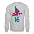 BIRTHDAY 16 SWEET SIXTEEN with a party hat Long Sleeve Shirts