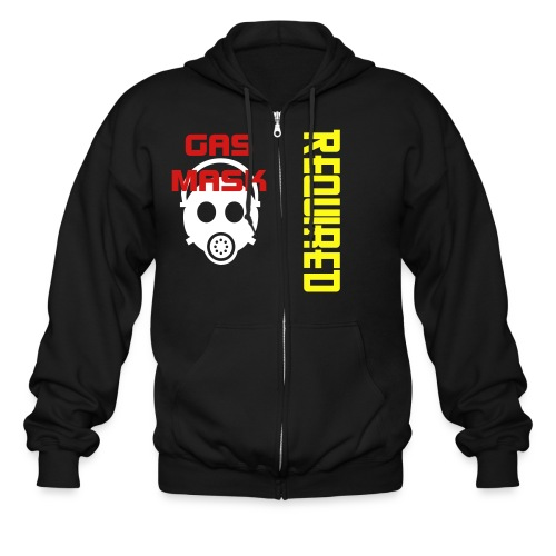 gas mask required - Men's Zip Hoodie