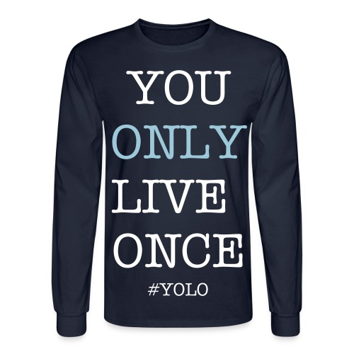 #YOLO - Men's Long Sleeve T-Shirt