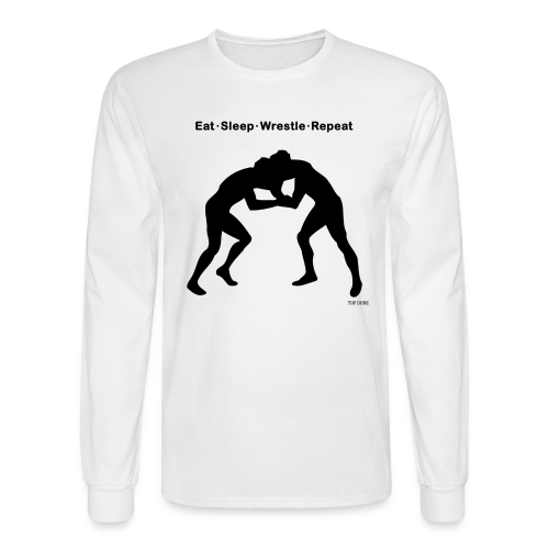 Eat Sleep Wrestle Repeat - Men's Long Sleeve T-Shirt