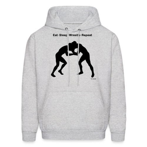 Eat Sleep Wrestle Repeat - Men's Hoodie