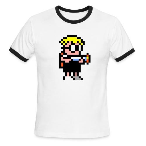 Mutant Mudds - Big Max - Men's Ringer T-Shirt