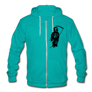 A Grim Reaper - Death with a scythe Zip Hoodies/Jackets