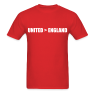 T-Shirts ~ Men's T-Shirt ~ United better than England
