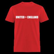 T-Shirts ~ Men's T-Shirt ~ United better than England
