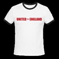 T-Shirts ~ Men's Ringer T-Shirt ~ United better than England