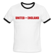 T-Shirts ~ Men's Ringer T-Shirt ~ United better than England