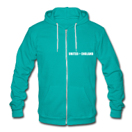 Zip Hoodies & Jackets ~ Unisex Fleece Zip Hoodie by American Apparel ~ United better than England