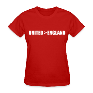 Women's T-Shirts ~ Women's T-Shirt ~ United better than England
