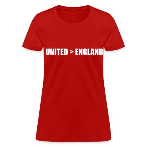 United better than England - Women's T-Shirt