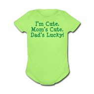 Baby Bodysuits ~ Baby Short Sleeve One Piece ~ Dad's Lucky