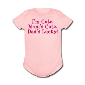 Dad's Lucky - Short Sleeve Baby Bodysuit