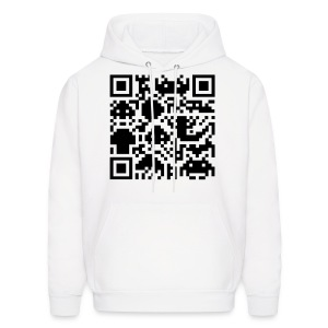 Square Barcode Men's Hooded Sweatshirt - Men's Hoodie