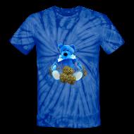 T-Shirts ~ Unisex Tie Dye T-Shirt ~ Blue bear kush