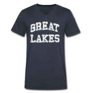 T-Shirts ~ Men's V-Neck T-Shirt by Canvas ~ Old Great Lakes