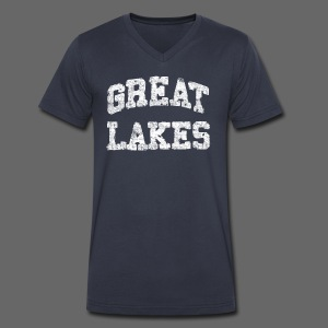 Old Great Lakes - Men's V-Neck T-Shirt by Canvas
