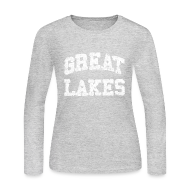 Long Sleeve Shirts ~ Women's Long Sleeve Jersey T-Shirt ~ Old Great Lakes