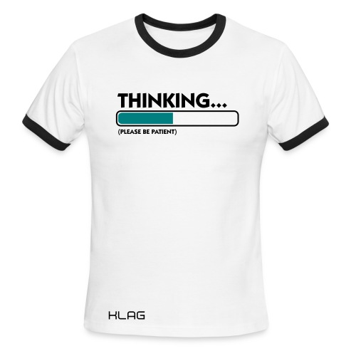 Thinking Men's Ringer T-Shirt  - Men's Ringer T-Shirt