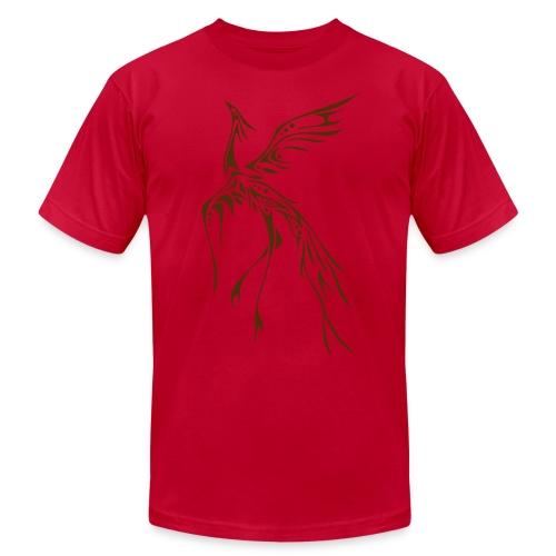Crane/Phoenix Tribal Tattoo (Brown) Men's American Apparel T-Shirt - Men's  Jersey T-Shirt