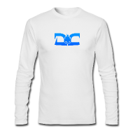 Long Sleeve Shirts ~ Men's Long Sleeve T-Shirt by Next Level ~ MENS LONG SLEEVE: DotaCinema logo white
