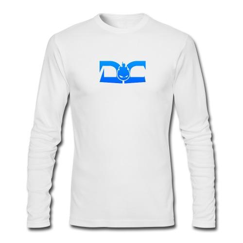 MENS LONG SLEEVE: DotaCinema logo white - Men's Long Sleeve T-Shirt by Next Level