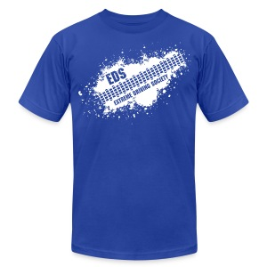 EDS Tire Tread Splatter (Blue) - Men's T-Shirt by American Apparel