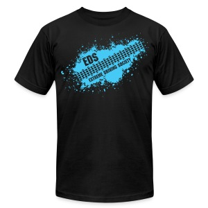EDS Tire Tread Splatter (Black) - Men's T-Shirt by American Apparel