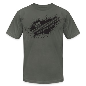 EDS Tire Tread Splatter (Asphalt) - Men's T-Shirt by American Apparel