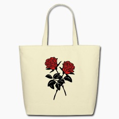 'Roses' Eco-Friendly Cotton Tote