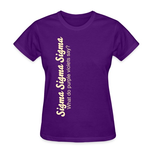 What do purple violets say? - Women's T-Shirt
