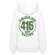 Hoodies ~ Women's Hoodie ~ Two Sided,  416 D/PP Racing on back