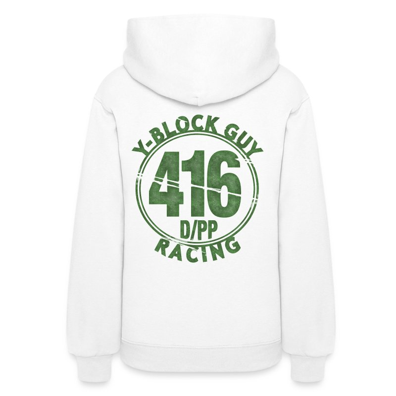 Two Sided,  416 D/PP Racing on back - Women's Hoodie