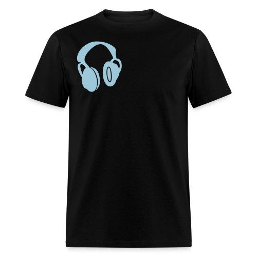 mens headphone blue - Men's T-Shirt