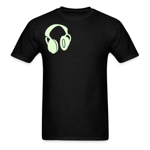 mens headphone glow - Men's T-Shirt