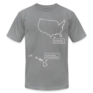 U.S. and Hawaii T-shirt - Men's T-Shirt by American Apparel