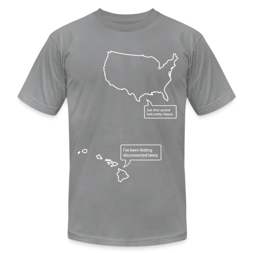U.S. and Hawaii T-shirt - Men's Fine Jersey T-Shirt