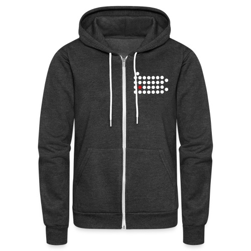 PIttsburgh Dot Hooded Zip-Up - Unisex Fleece Zip Hoodie