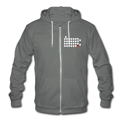 Philadelphia Dot Hooded Zip-up - Unisex Fleece Zip Hoodie