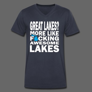 Great Lakes? - Men's V-Neck T-Shirt by Canvas