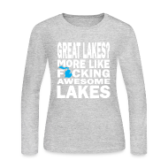 Long Sleeve Shirts ~ Women's Long Sleeve Jersey T-Shirt ~ Great Lakes?
