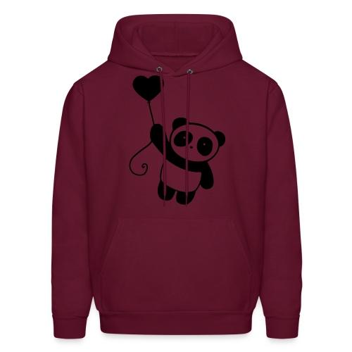 Panda Hoodie! (AlissaPanda on sleeve) - Men's Hoodie