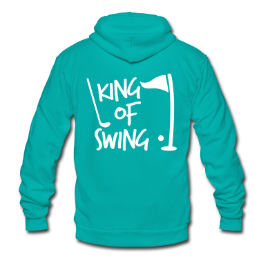 KING of SWING golf dad's day design Zip Hoodies/Jackets