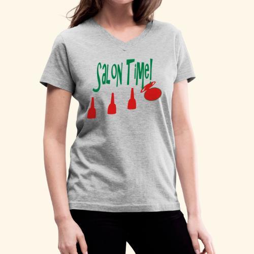 salon time - Women's V-Neck T-Shirt