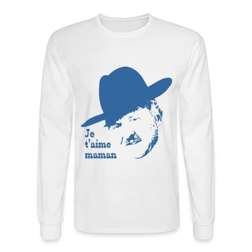 Je t'aime maman homme long bleu - Men's Long Sleeve T-Shirt