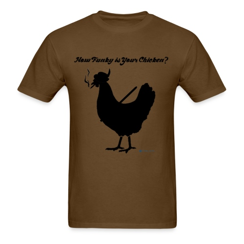 How Funky is Your Chicken? - Men's T-Shirt