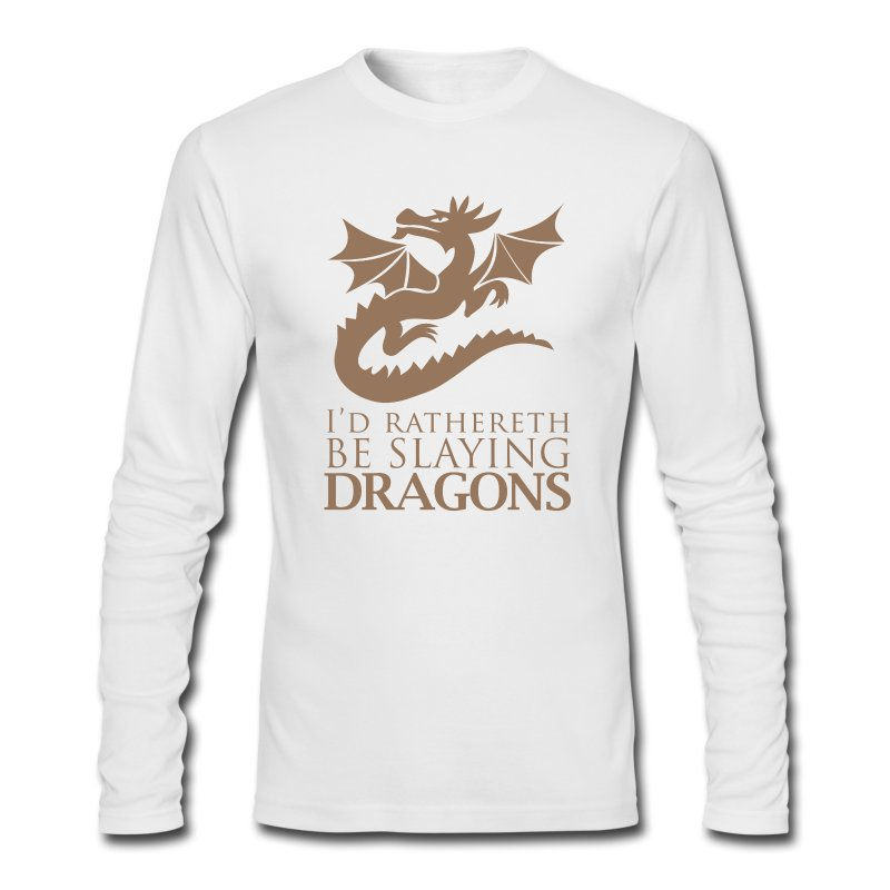I'd Rather Be Slaying Dragons - Men's Long Sleeve T-Shirt by Next Level