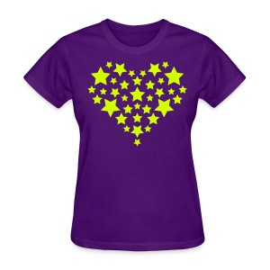 Star Heart - Neon yellow - Women's T-Shirt