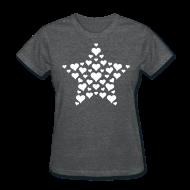 Women's T-Shirts ~ Women's T-Shirt ~ Heart Star
